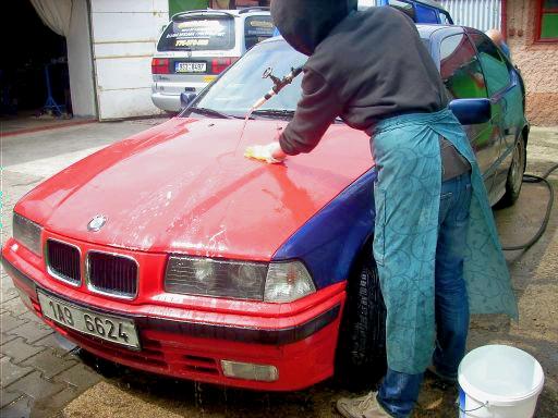 Připrava auta na polep