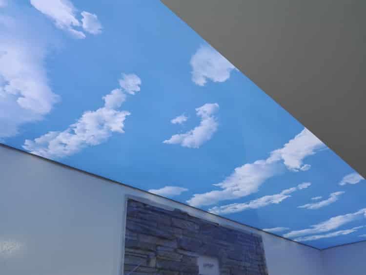 Montáž stropní fólii a osvětlení