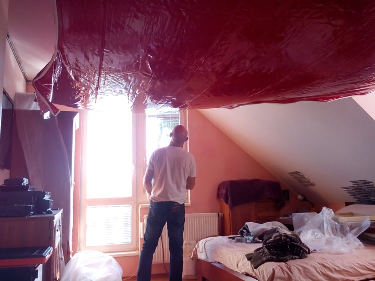 Montáž PVC stropy
